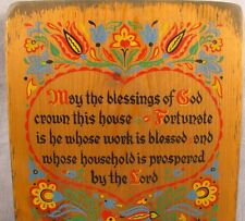 "May the Blessings of God Crown This House Wooden Wall Sign 9x12"" Wooden Prayer"