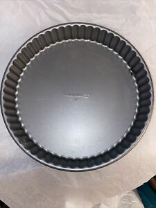 10 Inch Tart Pan with Removable Bottom Nonstick Fluted Pie/Quiche/Tart Pan (BoxF