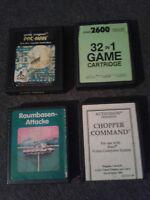 Atari 2600 Spiele Set 4 Stück/Module (darunter zwei RARITÄTEN!!) guter Zustand..