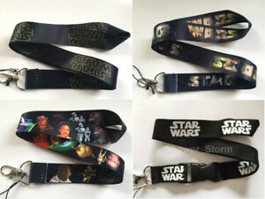 Starwars Lanyard NEW UK Seller Keyring ID Holder Strap Black Star Wars
