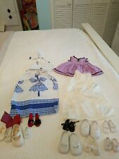 """Vintage Doll Clothes and Shoes For 18� and12"""" Dolls 6 pr Shoes + 8 Odd+ Socks"""