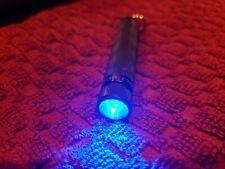 Arc AAA Flashlight Blue LED Black Anodized, Lug Body Key Chain.