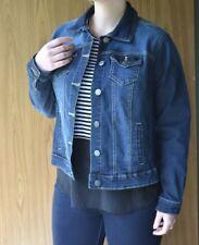 New Look Jean Jacket Women's Coat Denim Dark Wash/Blue Plus Size 3X