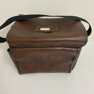 Vintage Kolpin Gun Ammo Case Bag Tote Front Pocket Brown Leather