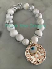 Evil Eye Sterling Silver Beaded Fashion Bracelets