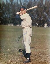 JOE DIMAGGIO Signed 16x20 Baseball PHOTO NY Yankees Team HOF vtg old RARE pic