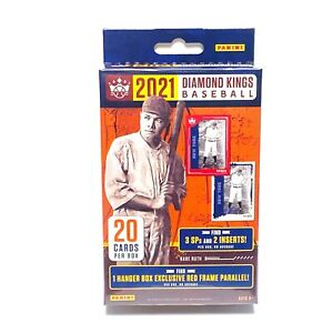 2021 Panini MLB Baseball Diamond Kings - Sealed - Hanger Box (20 Cards)