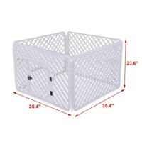 Dog Cage Fence 4-Panel Pet Pen PP Resin Protect Dog Fence Small And Medium Dogs