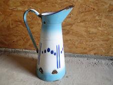 Ancien pot à eau en métal émaillé vintage déco années 1950 brocante kitsch