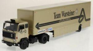 VOLVO F89 Team Warsteiner Arrows Race Transport diecast model 1:43 IXO TTR023