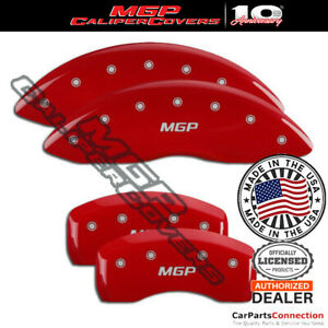MGP Caliper Brake Cover Red 23198SMGPRD Front Rear For Mercedes-Benz C350 13-14