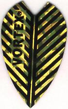 Gold Vortex Dart Flights: 3 per set