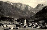 Oberstdorf Postkarte 1961 gelaufen Totale mit Krottenspitzen Fürschießer Kratzer