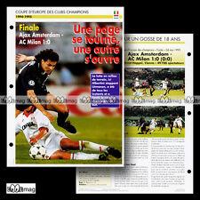 #078.06 AJAX AMSTERDAM-AC MILAN 24.05.1995 (ALBERTINI & LITMANEN) Fiche Football