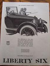 1920 Liberty Six Automobile Advertisement