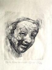 """Ernst WILLE 1916 Werne - 2005 / Radierung """"nach Rembrandt"""" signiert / Rahmen"""