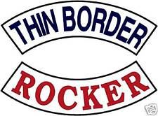 "CUSTOM EMBROIDERED MOTORCYCLE THIN BORDER  13.5"" ROCKER"