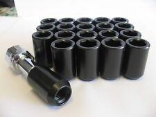 20 pcs 12X1.5 BLACK TUNER LUG NUTS WITH KEY FOR HONDA ACURA TOYOTA CIVIC INTEGRA