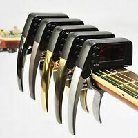 KQ_ CW_ Zinc Alloy Guitar Ukulele Bass Capo Music Instrument Tuner Key Tone Chan
