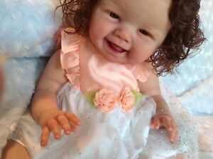 Precious Smiling Reborn Doll Rosalee by Sandy Faber Must See!
