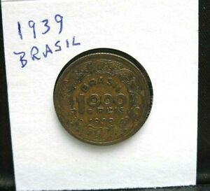 1901 100 Reis Brasil, 1939 1000 Reis Coins