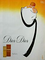 PUBLICITÉ DE PRESSE 1978 PARFUM DIOR-DIOR  - D'après GRUAU