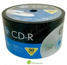 HP Blank CD-R CDR LOGO 52X 700MB 80MIN BRANDED LOT = 50 TO 1800 Discs