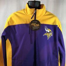 Minnesota Vikings Jacket Men Purple Yellow XL Soft Shell Bonded Water Resistant