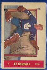 **ED CHADWICK**57-58 Parkhurst #T2 Rookie RC(TORONTO MAPLE-LEAFS)!LOOK Picture!!