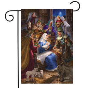 """Holy Family Christmas Garden Flag Nativity Religious 12.5"""" x 18"""" Briarwood Lane"""