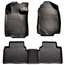 Black Husky Liners WeatherBeater Floor Mats - 2010-2012 Ford Fusion - 2 Row