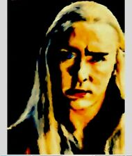 Lee Pace King Thranduil The Hobbit Original Hand Oil Painting Sketch Card ACEO