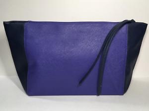 Estée Lauder Faux Leather Makeup Bag (Purple, Navy Blue)