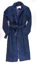 Pendleton Women's Navy Blue Long100% Virgin Wool Trench Coat Size 6 [AB12569]
