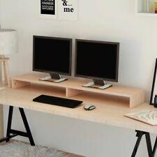 vidaXL TV-/Monitorstandaard 118x23,5x9 cm Spaanplaat Beige Monitor Standaard