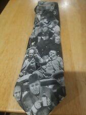 Vintage 1994 Ralph Marlin Three Stooges Tie Black White
