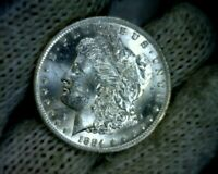 """Error"" BU 1884-o o over cc VAM-10 Morgan Silver Dollar Coin o/cc"
