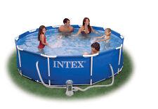 Intex 28212 Metall Frame Pool Set 366 cm x 76 cm mit Pumpe Schwimmbecken