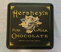 Collectible Hershey's Pure Milk Chocolate Tin Box - Vintage Edition No.6 Cow
