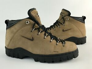 Vintage NIKE ACG Brown Leather Trail Hiking Boots 980608 - Womens Size 8.5