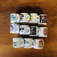 Disney Mini Coffee Cup Mugs Set Of (11) Mickey Buzz Dwarfs Pinocchio