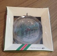 Vintage 1980 Christmas Ornament Suncatcher From Our House To Your House Mag-Nif