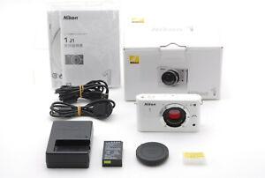 """N MINT"" Nikon 1 J1 10.1MP Mirrorless Digital Camera White Tested From JAPAN #58"