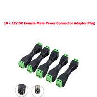 10/20x 12V DC  Maschio+Femmina  Power Plug Jack Adattatore Connettore CCTV Cavo