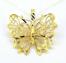 BUTTERFLY PENDANT SOLID 14 K GOLD 2.7 g