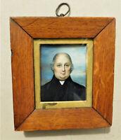 NO RESERVE 1836 by Cornelius Durham Portrait Miniature of a Gent Vintage Antique