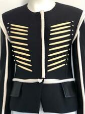 Louis Vuitton Black and White Military Jacket with Beads Size 38