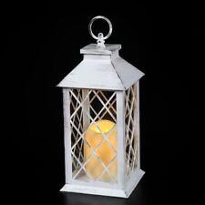 Laterne LED mit TIMERFUNKTION Gartenlaterne Wandlaterne Shabby Chic antikweiß