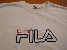 Vintage FILA Sweatshirt White XXL 2XL Spellout 80s 90s