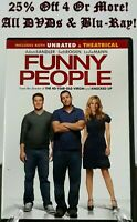Funny People (DVD, 2009, Rated/Unrated Versions)~25% Off 4 Or More!